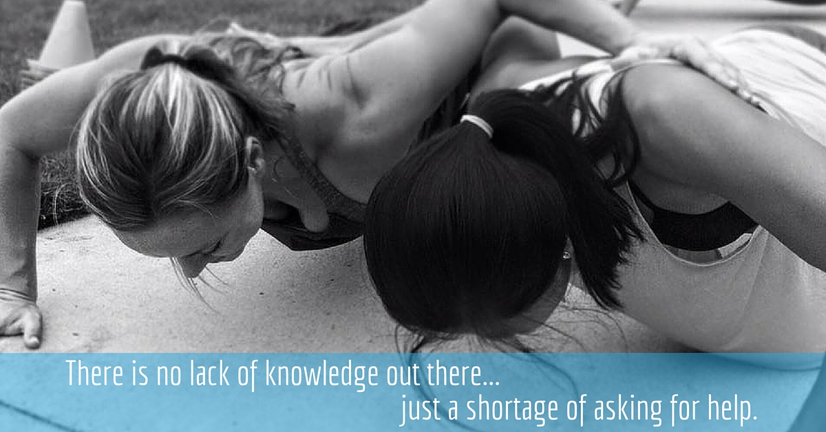 There is no lack of knowledge.. just a lack of being willing to ask for help