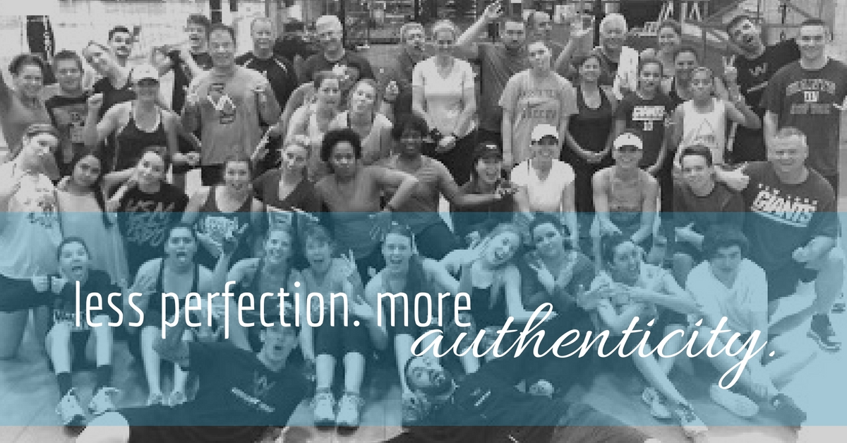 less perfection. more authenticity