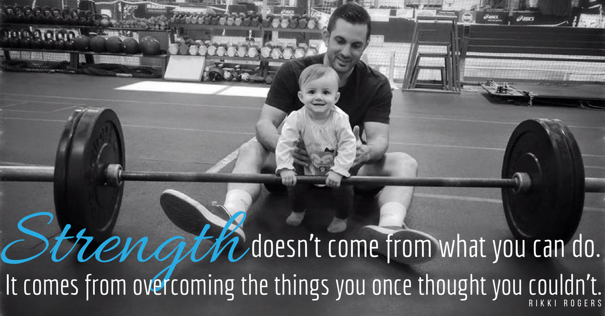 strength doesn't come from  what you can do; it comes from overcoming things you once thought you couldn't do